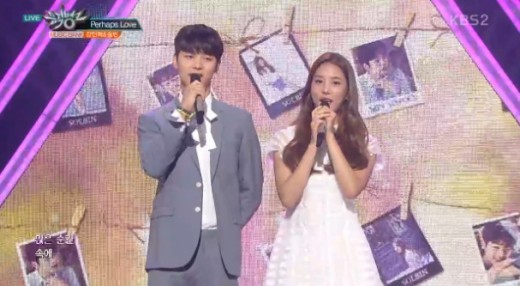 """Watch: CNBLUE's Kang Min Hyuk And LABOUM's Solbin Perform As New """"Music Bank"""" MCs"""