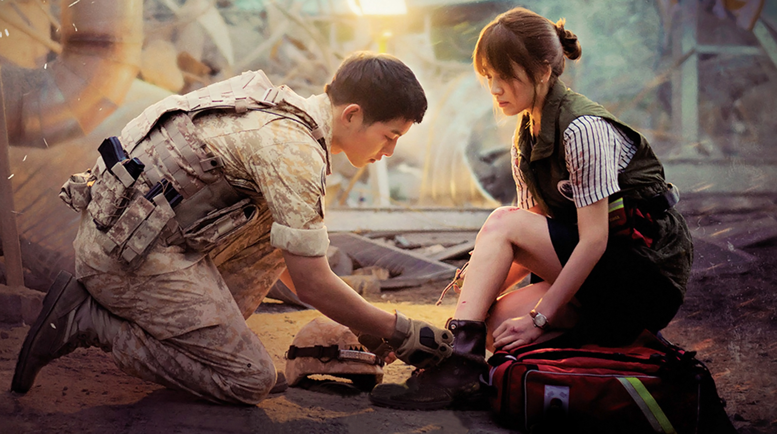 """Descendants Of The Sun"" Cast Song Joong Ki, Song Hye Kyo, And More Reunite To Record DVD Commentary"