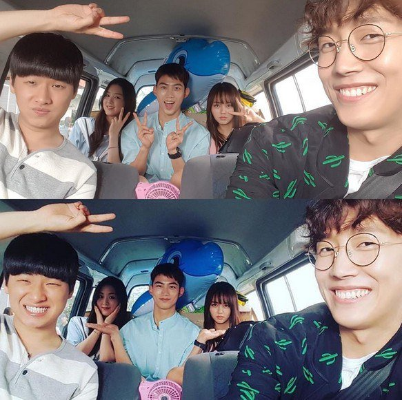 """Kim So Hyun Shares Cute Group Shots With """"Bring It On, Ghost"""" Cast Including Taecyeon And More"""