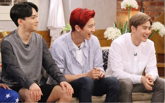 "EXO's Chen And Chanyeol Determined To Expose Suho's True Self On ""Happy Together"""