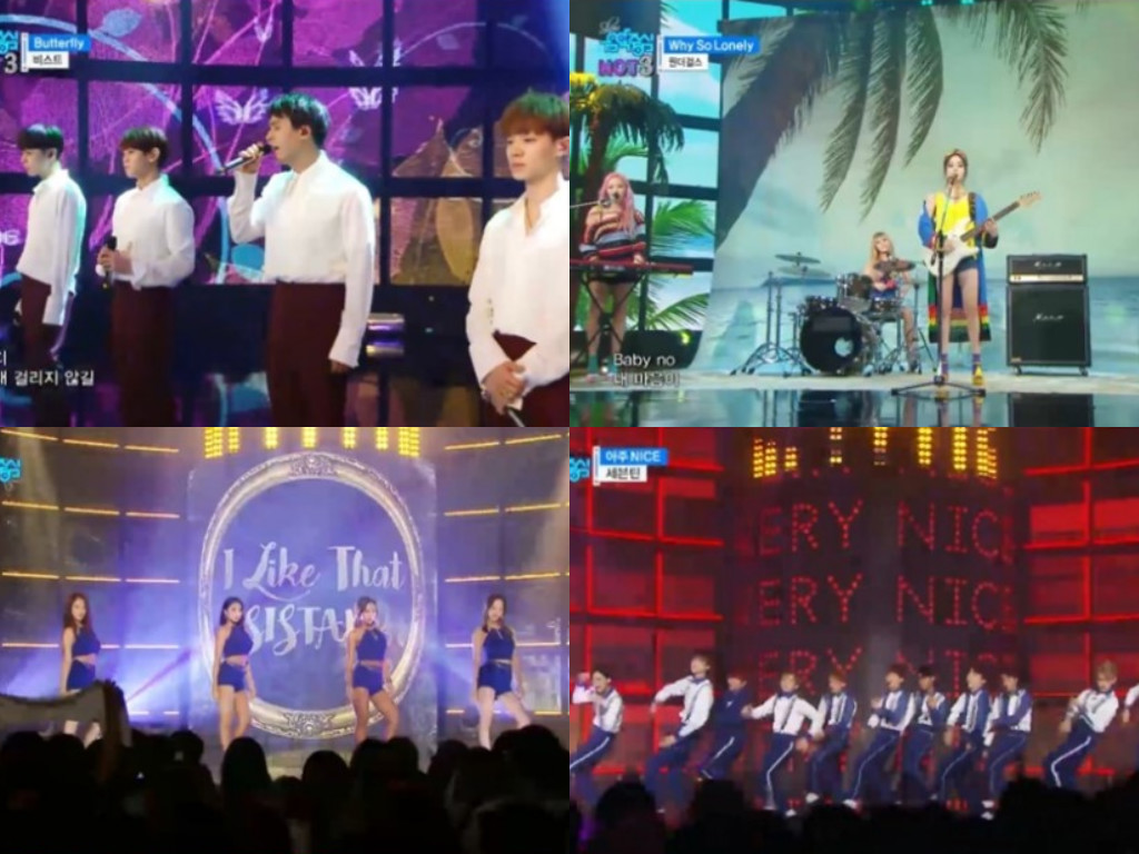 """Watch: Wonder Girls, BEAST, SEVENTEEN, And More Perform On """"Music Core"""""""