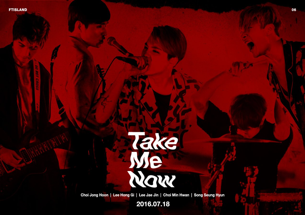 "Update: FTISLAND Reveals Poster For Comeback Title Track ""Take Me Now"""