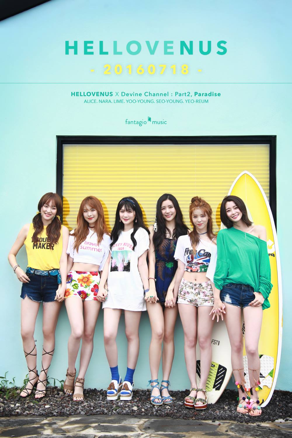 "Hello Venus Shares Group Teaser Photo For New Single ""Paradise"""