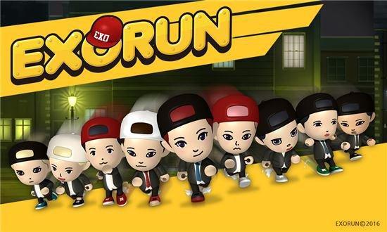 """SM Launches New EXO Mobile Game """"EXORUN"""""""