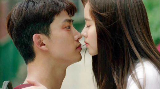 Image result for taeyeon kim so hyun kiss scene
