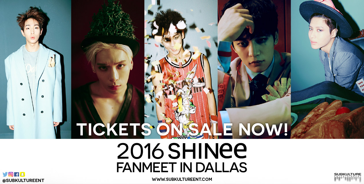 Giveaway: Tickets To SHINee's Fanmeet in Dallas