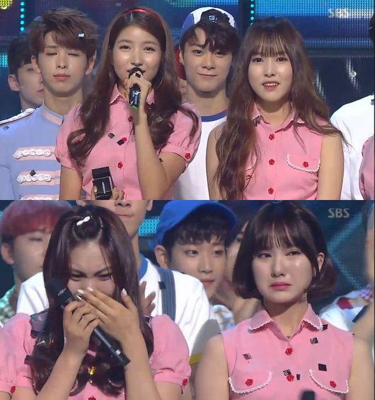 gfriend inkigayo win