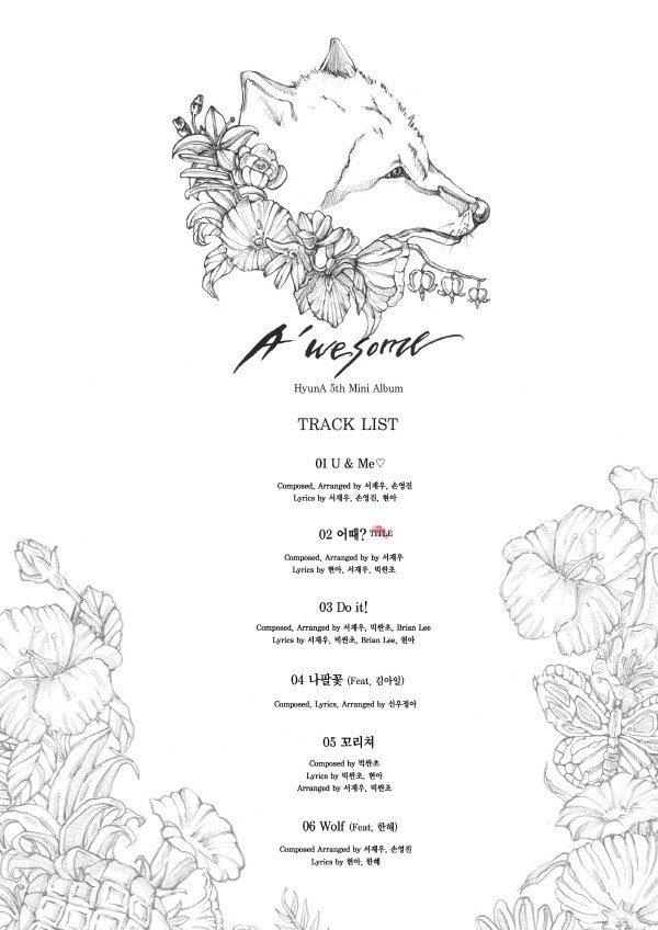 HyunA track list