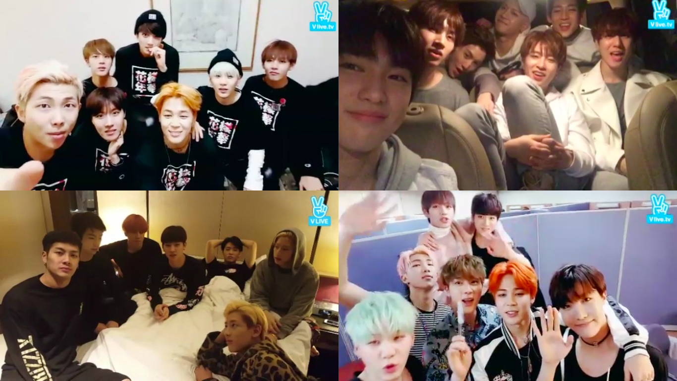 BTS And GOT7 Talk About Their Most Memorable V App Broadcasts And Accidents During Shows