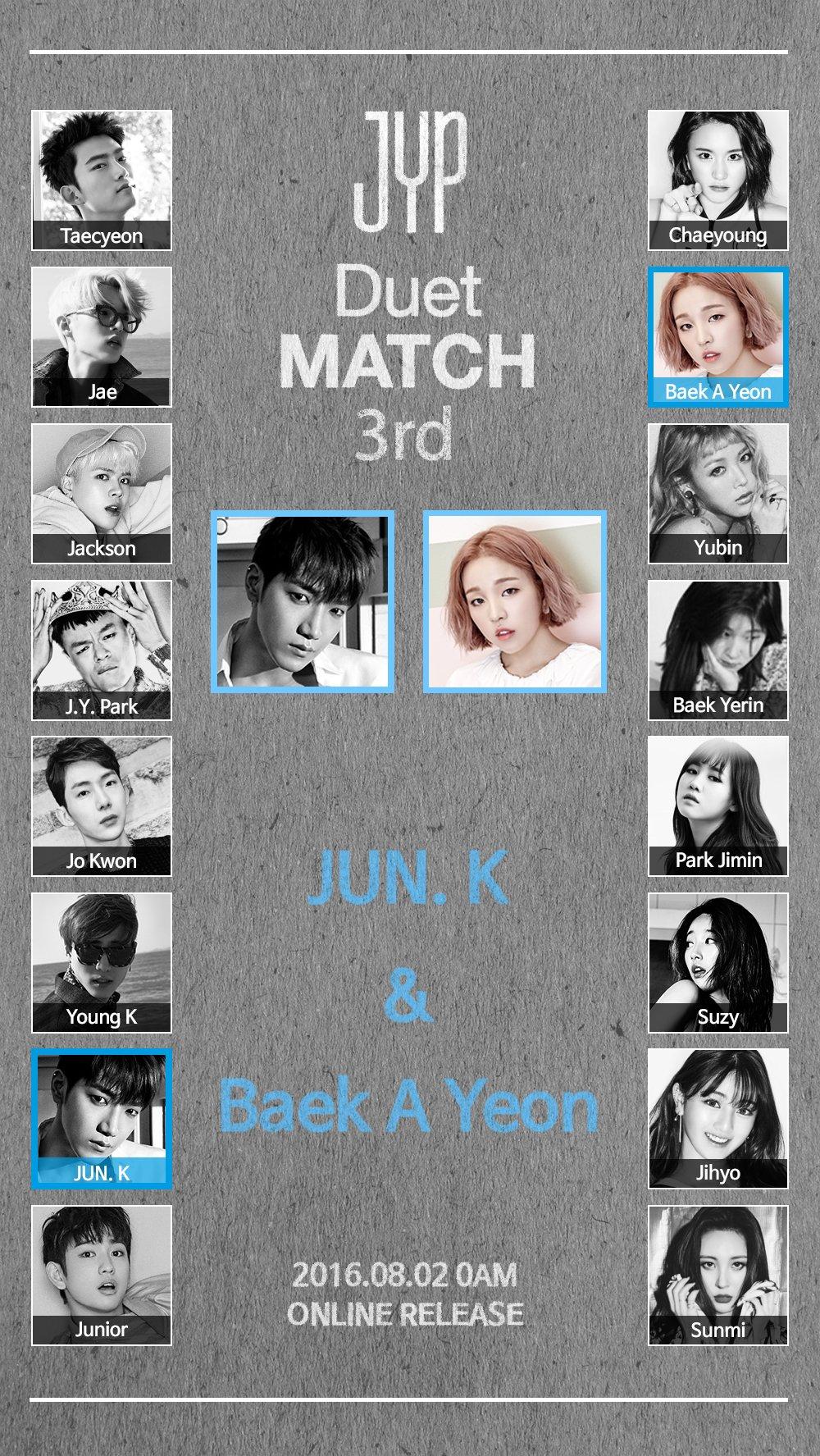 Update: JYP Entertainment Announces Jun.K Will Join Baek A Yeon For Upcoming Duet