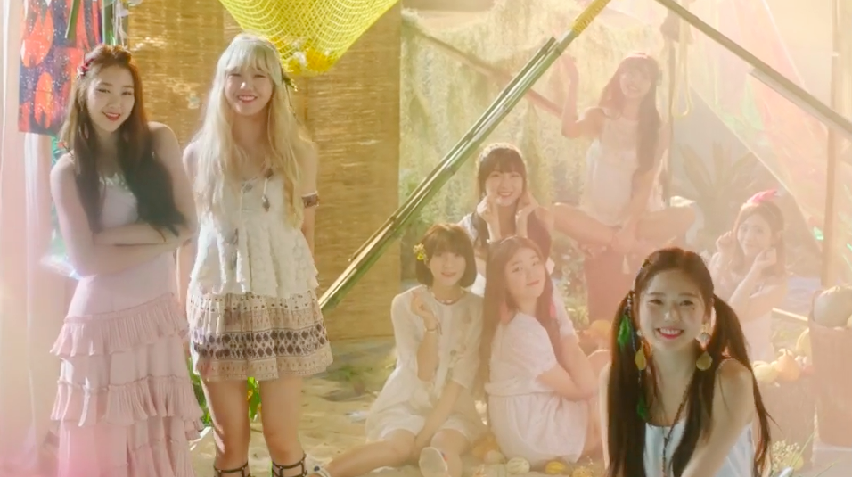 "Watch: Oh My Girl Creates Their Own Magical Beachy World In Teaser Videos For ""A-ing"" MV"