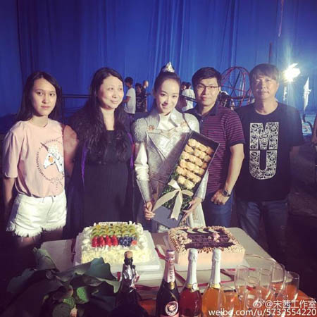 "Victoria Celebrates Finishing ""Ice Fantasy"" Filming"