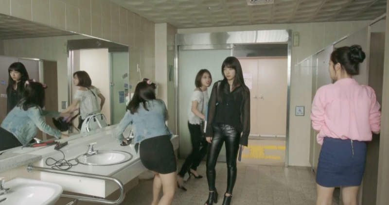 park shin hye fashion black on black full shot