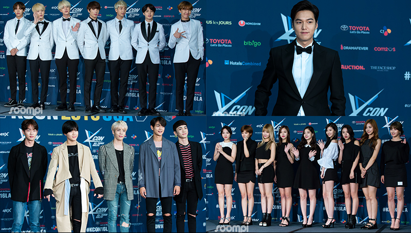 BTS, SHINee, Lee Min Ho, TTS, TWICE And More Dazzle On The KCON LA Red Carpet
