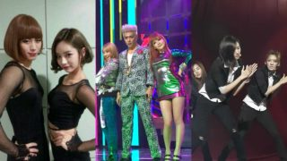 Hongbin, Hyeri, TOP, CL, Park Bom, and Girls Generation
