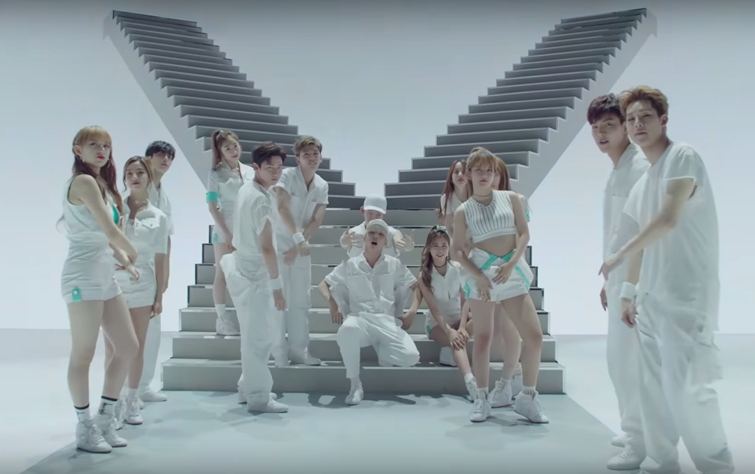 "Watch: MONSTA X And Cosmic Girls Unit Group Y Teen Says ""Do Better"" In New MV"