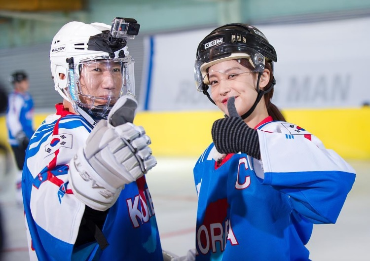 """Running Man"" Members Transform Into Ice Hockey Athletes"