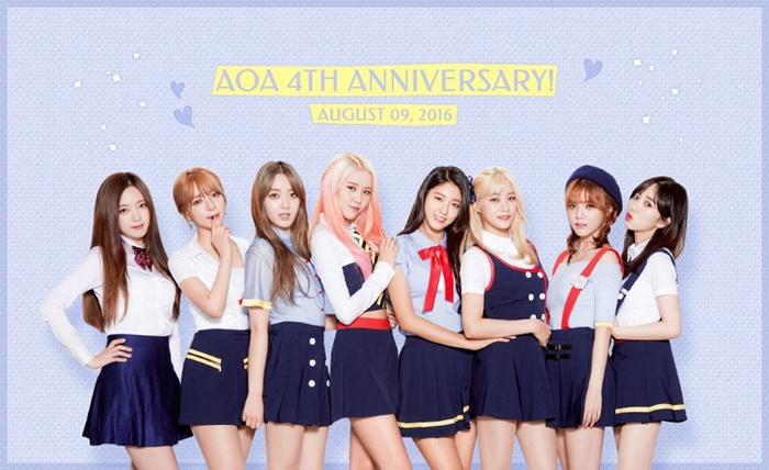 AOA Celebrates 4th Debut Anniversary!