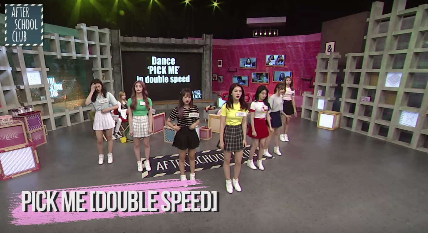 "Watch: I.O.I Sub-Unit Gives Flawless Performances Of ""Pick Me"" And ""Whatta Man"" At 2x Speed"