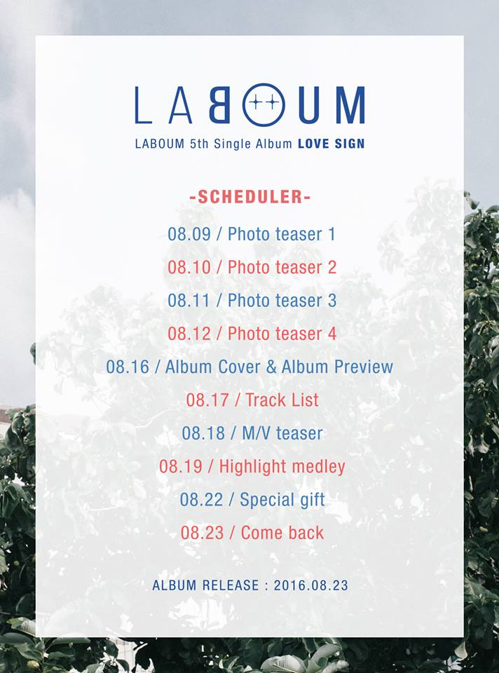 LABOUM comeback schedule
