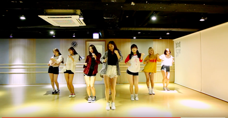 "Watch: Oh My Girl Releases Dance Practice Video For ""A-ing"""