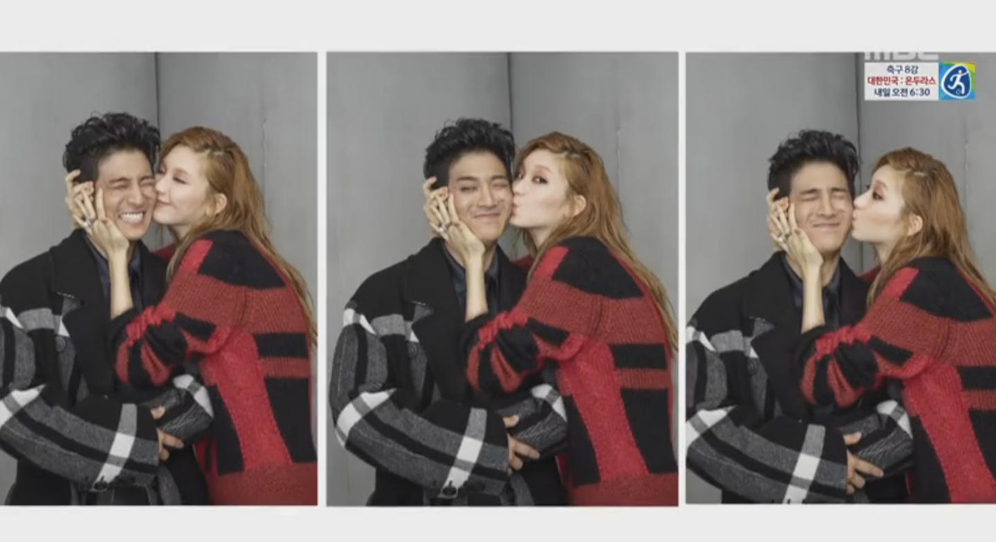 """Watch: Jota Reacts Adorably To A Kiss On The Cheek From Kim Jin Kyung On """"We Got Married"""""""