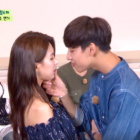 "Watch: GOT7's BamBam Gets Shy Reenacting ""Uncontrollably Fond"" Kiss Scene With FIESTAR's Jei"