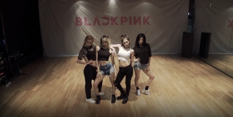 blackpink whistle dance practice