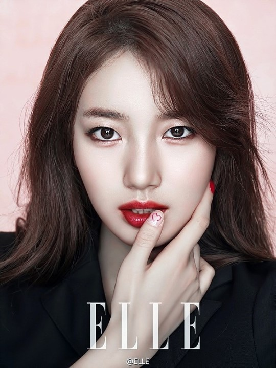 Suzy Looks Stunningly Beautiful With A Simple But Bold Statement Lip