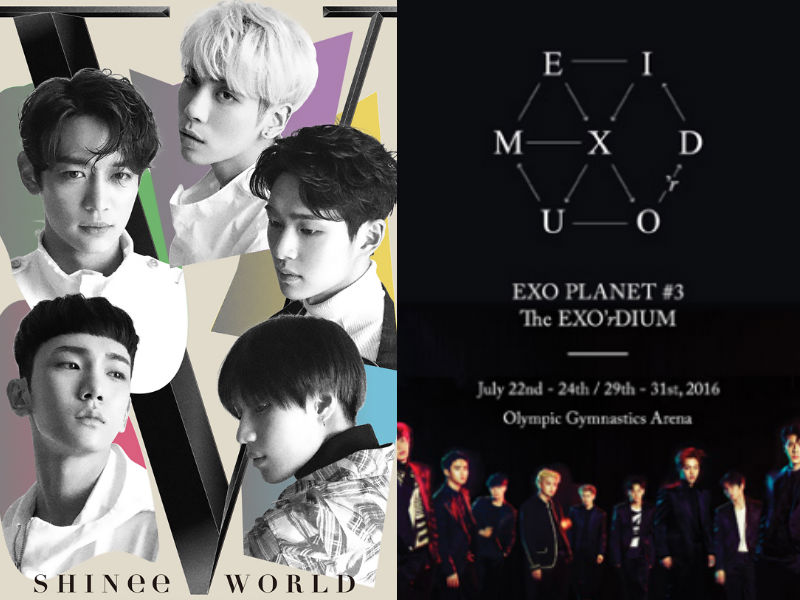 SHINee EXO concert posters