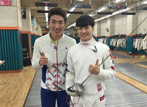 BIGSTAR's Feeldog Meets Fencing Olympic Gold Medalist Park Sang Young