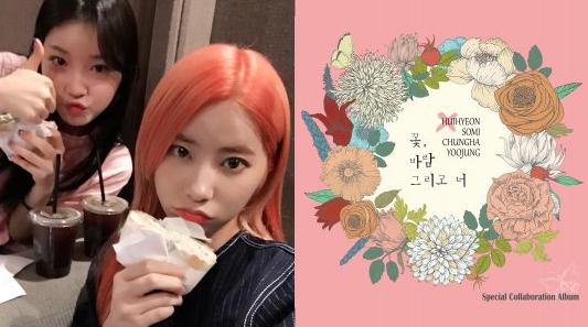 I.O.I And DIA Unit Reveals Album Jacket And Photo Of Cathy And Kim Chungha