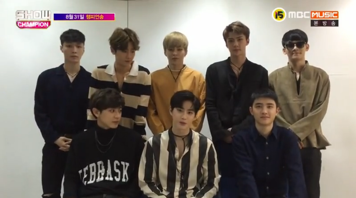 "EXO Takes 4th Win For ""Lotto"" On ""Show Champion"""