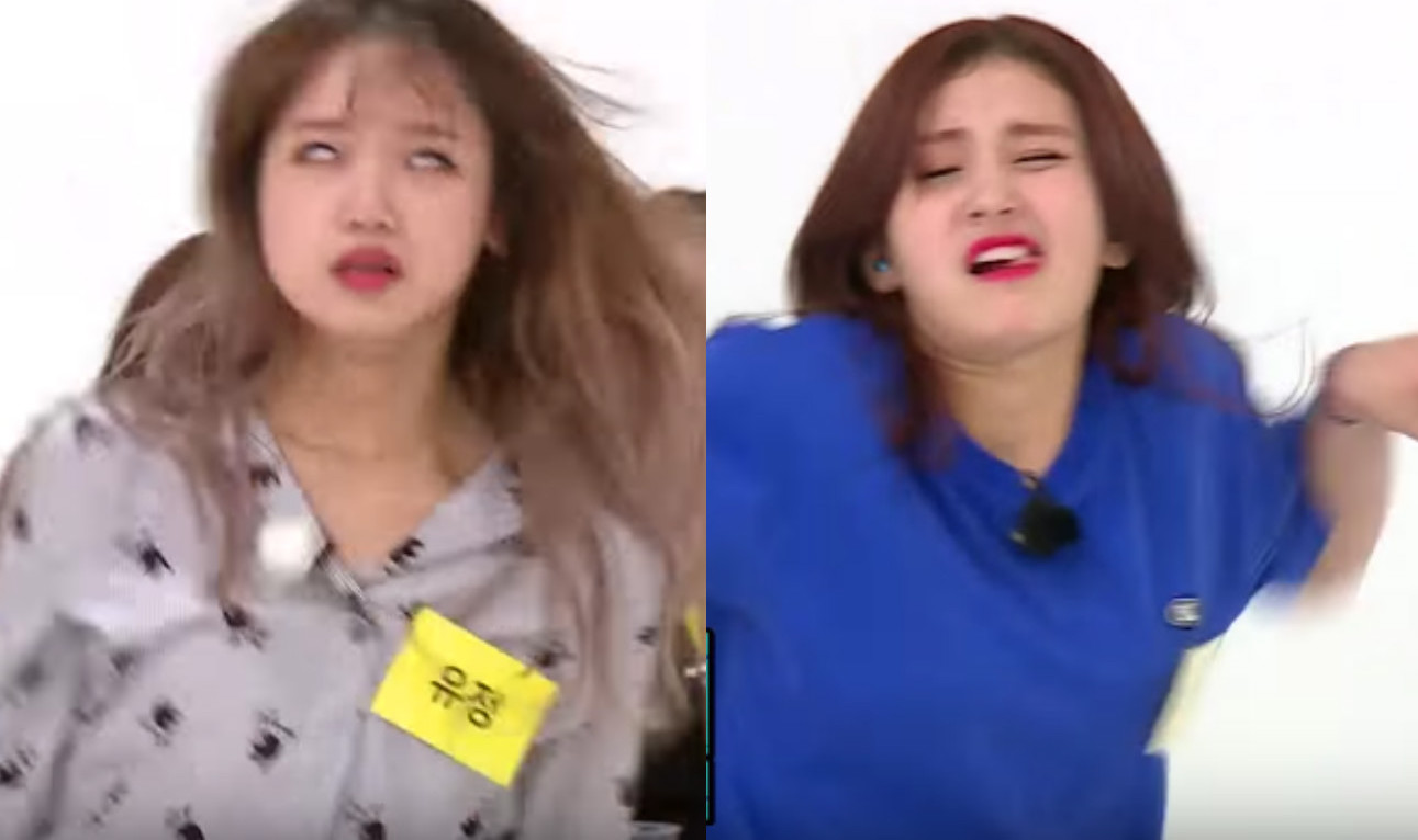 """Watch: I.O.I Gets Their Derpy On In Ugly Dance Battle On """"Weekly Idol"""""""
