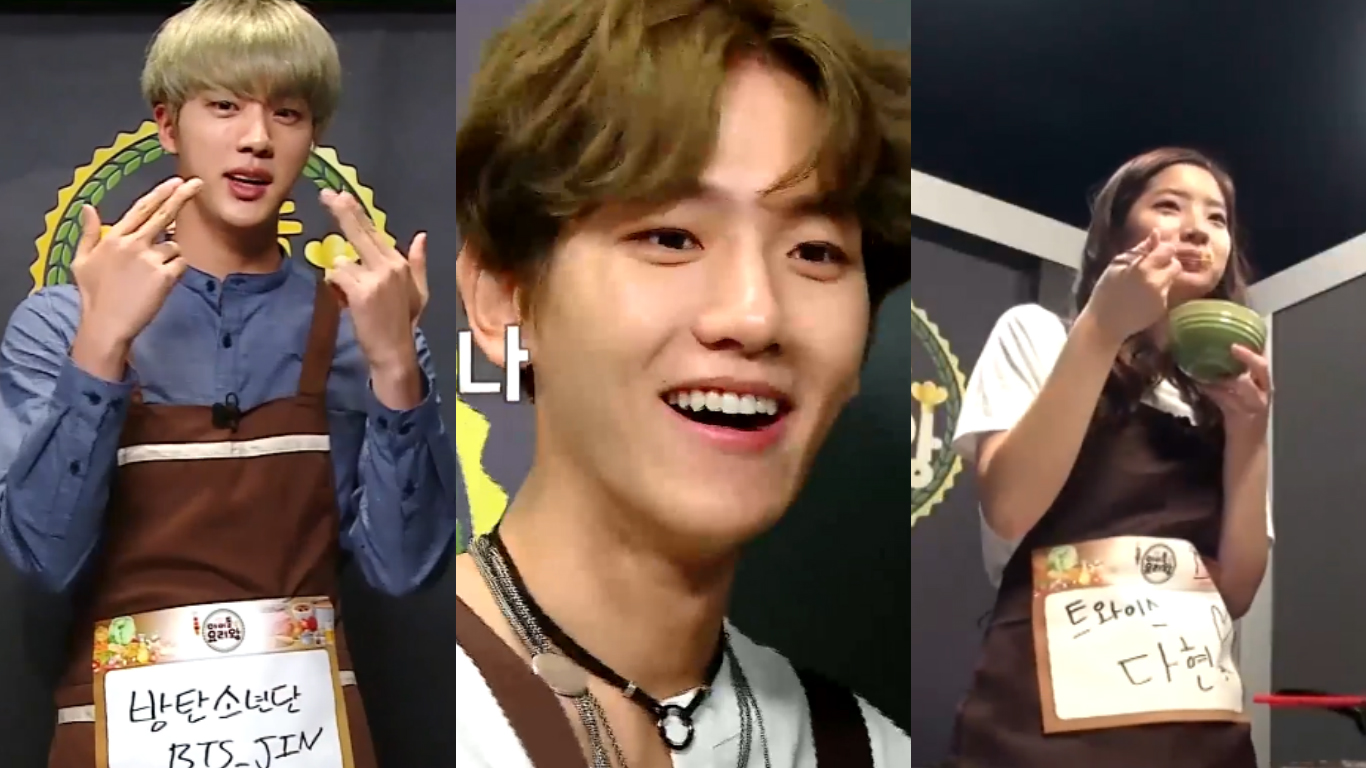 """Watch: Members Of BTS, EXO, VIXX, TWICE, And More Go Head To Head In """"Idol Chef King"""" Preview"""