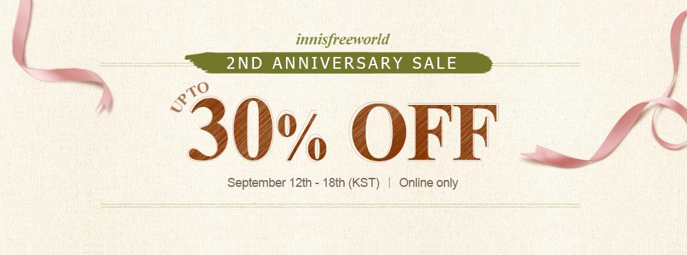 Happy 2-Year Anniversary, Innisfreeworld!