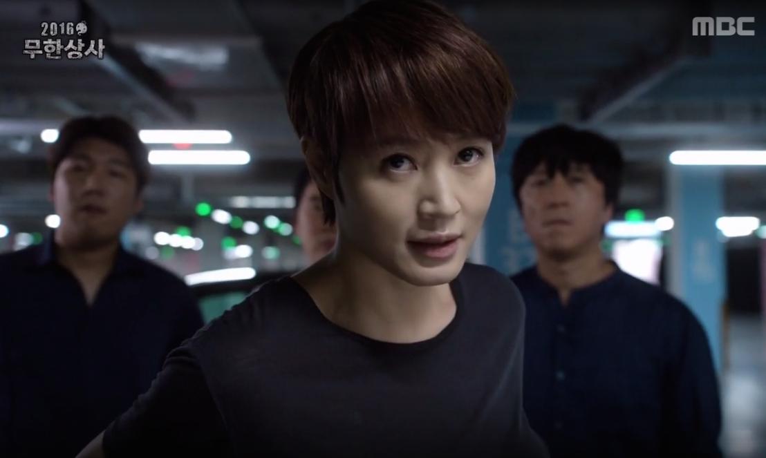 "Watch: Kim Hye Soo Makes A Fabulous Return As Her ""Signal"" Character In ""Muhan Company"""