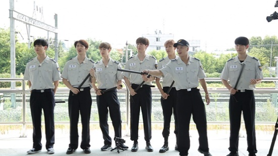 Watch: GOT7 Plays Name Tag Ripping Game As Prison Guards On