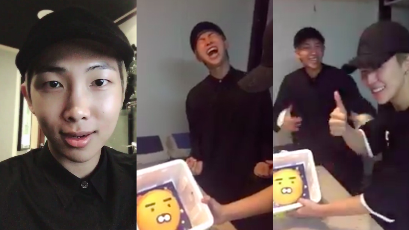 Bts Celebrates Rap Monster S Birthday With Perfect Cake Party And Embarrassing Photos Soompi