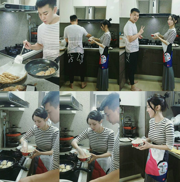 Super Junior's Sungmin Cooks For Chuseok With Wife Kim Sa Eun