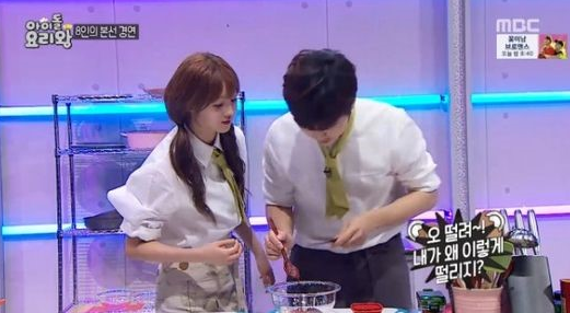 "B1A4's Sandeul Worries Over Oh My Girl's YooA On ""Idol Chef King"""