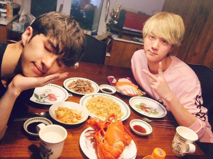 VIXX's Ken And BTS's Jin Enjoy A Chuseok Feast Together