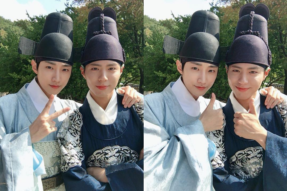 B1A4's Jinyoung And Park Bo Gum Are Friendship Goals Personified On Set
