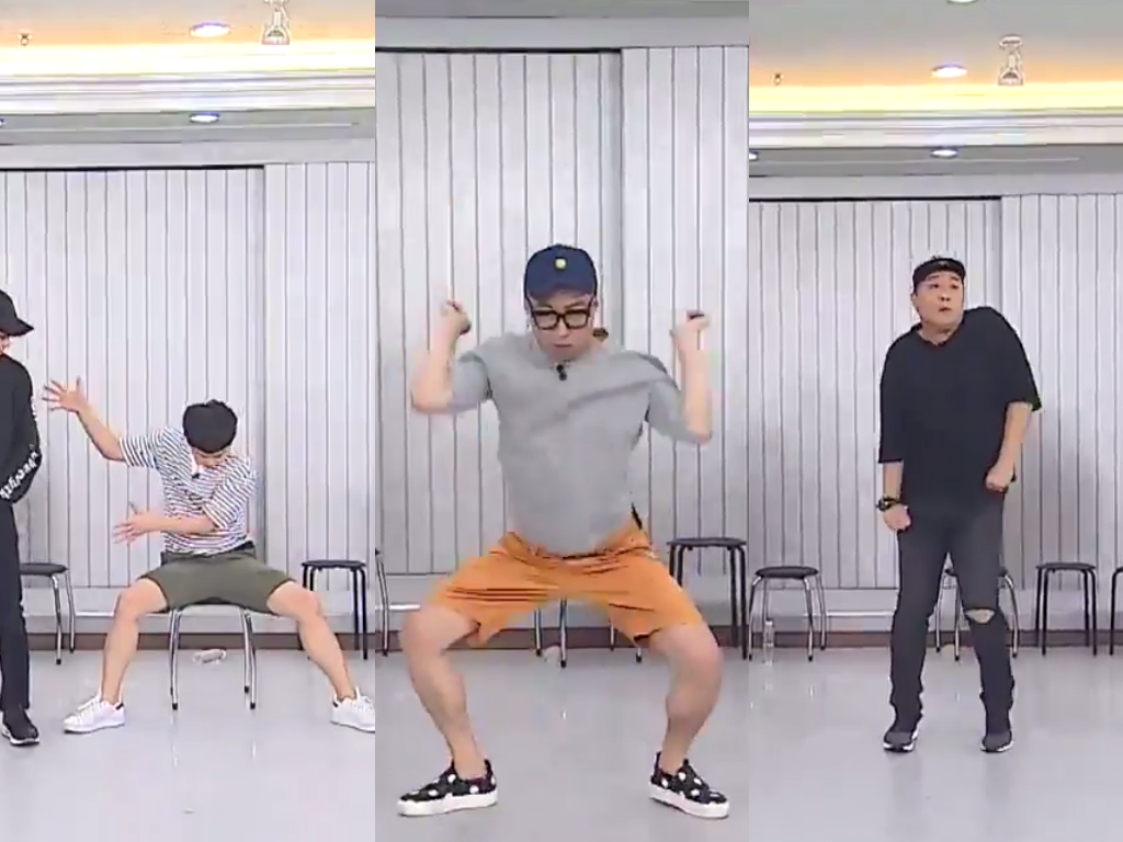 "Watch: ""Infinite Challenge"" Members Try Their Hand At Being EXO Members"