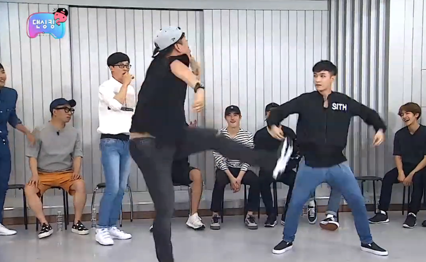 "Watch: ""Infinite Challenge"" Members Teach EXO How To Dance"