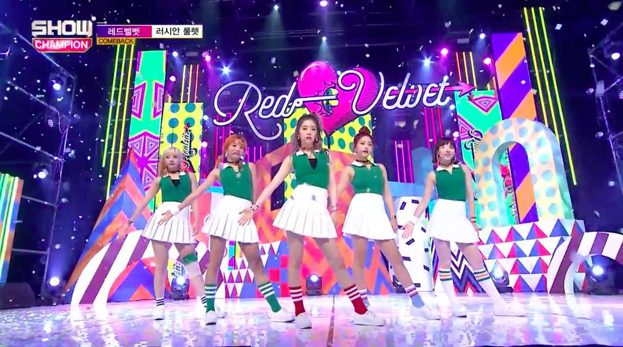 "Watch: Red Velvet Grabs 3rd Win For ""Russian Roulette"" On ""Show Champion,"" Performances by Cosmic Girls, Song Ji Eun, And More"