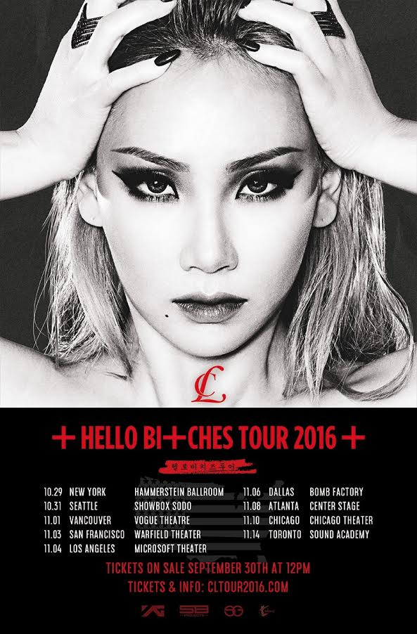 Update: Tickets To CL's 1st Solo Concert Tour In North America On Sale Now