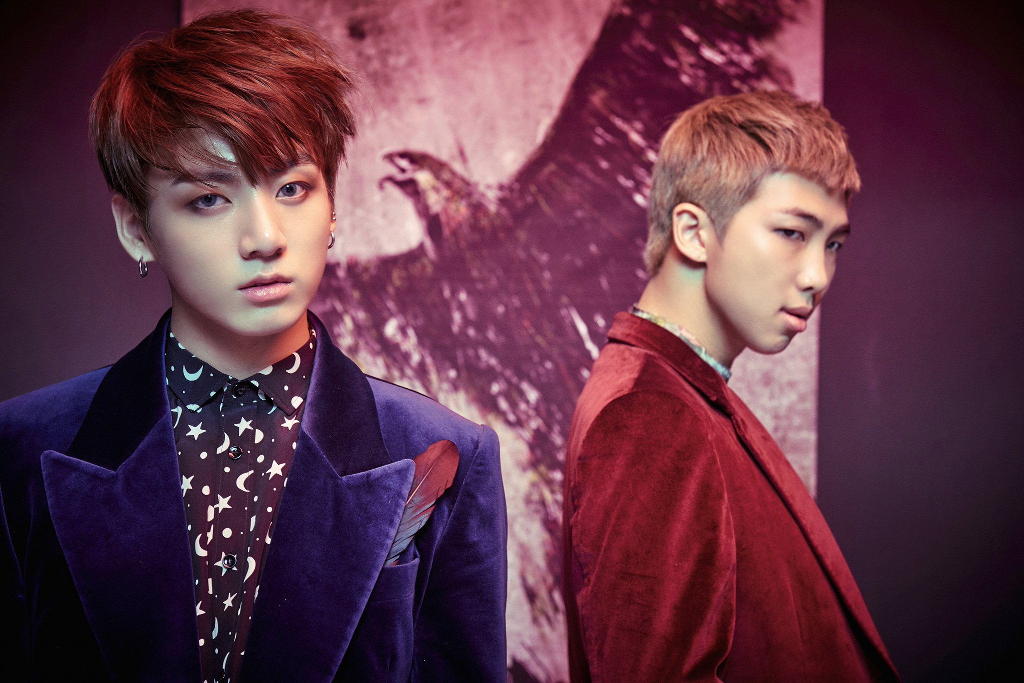 """BTS Shares Concept Photos Of Jungkook And Rap Monster For Return With """"WINGS"""""""