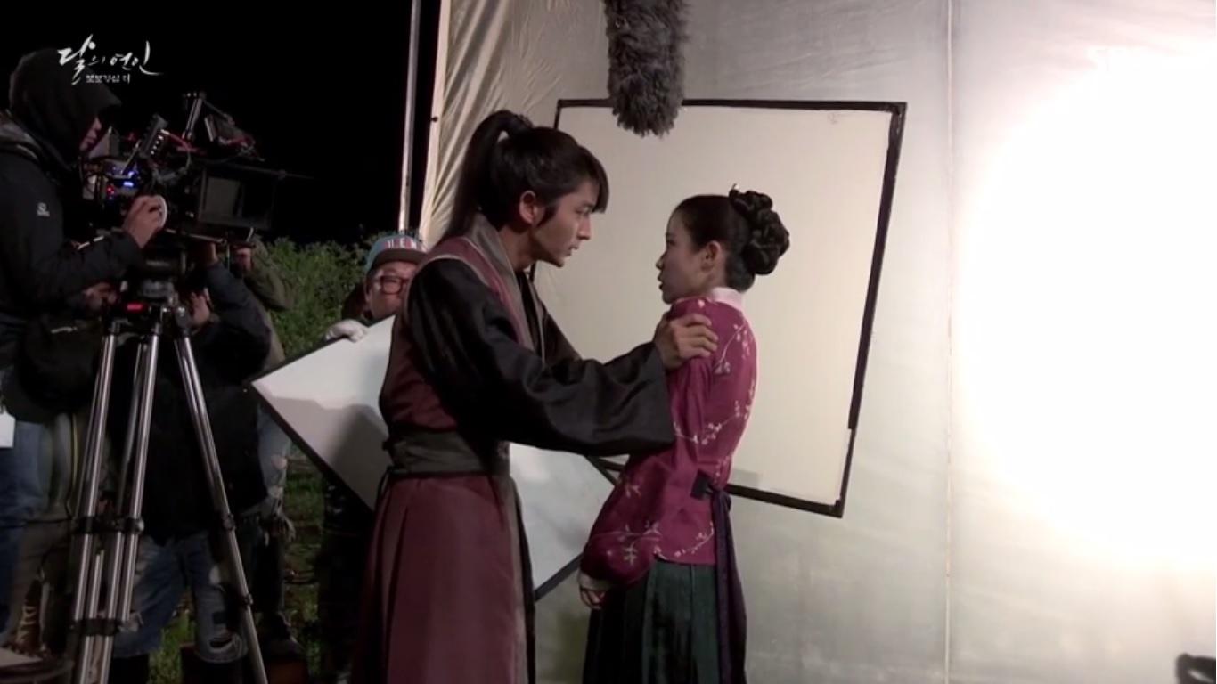 lee joon gi and iu get close in behind the scenes footage