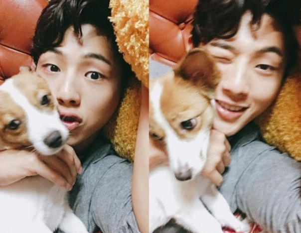 Ji Soo Cuddles With His Dog After Being Discharged From Hospital